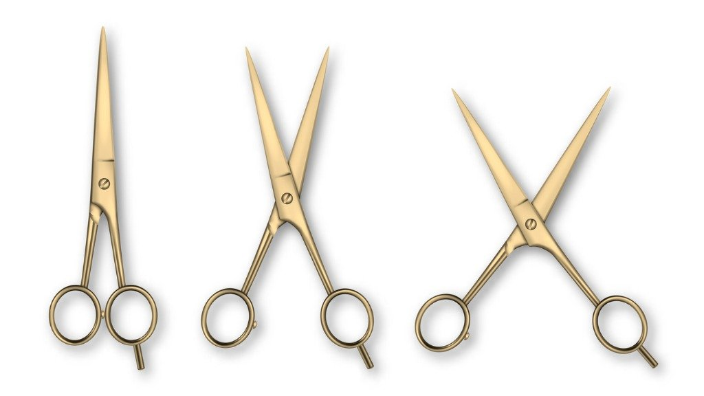 scissors cutting