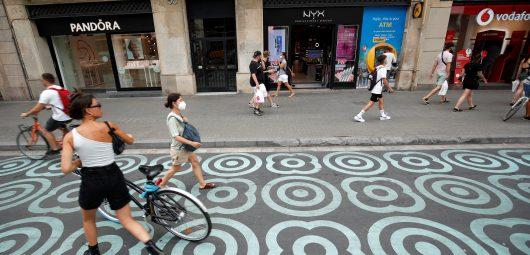 Barcelona pedestrians